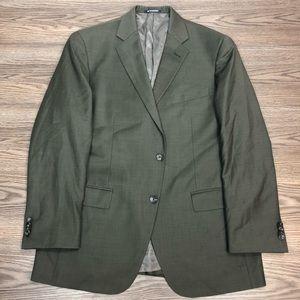 Hart Schaffner Marx Olive Green Blazer 43R